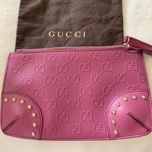 Authentic Gucci wristlet clutch
